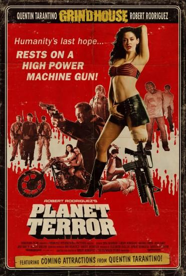 Filmplakat fra Planet Terror